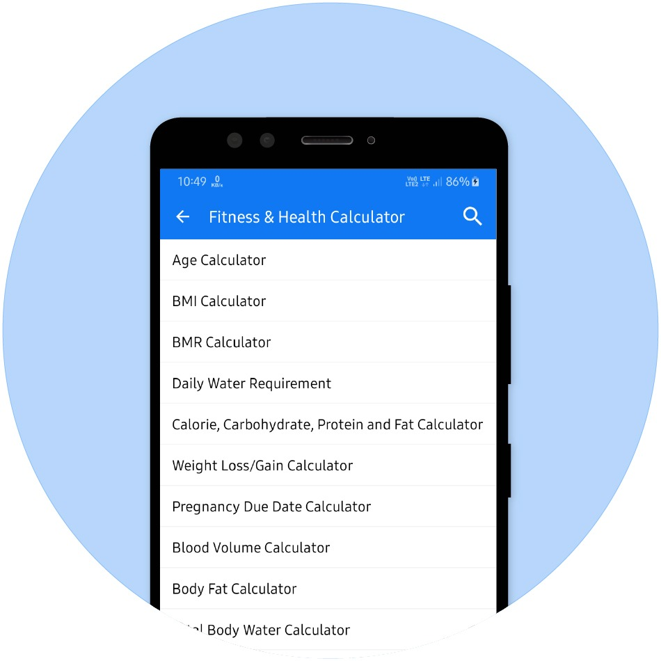 Health & Fitness Calculator