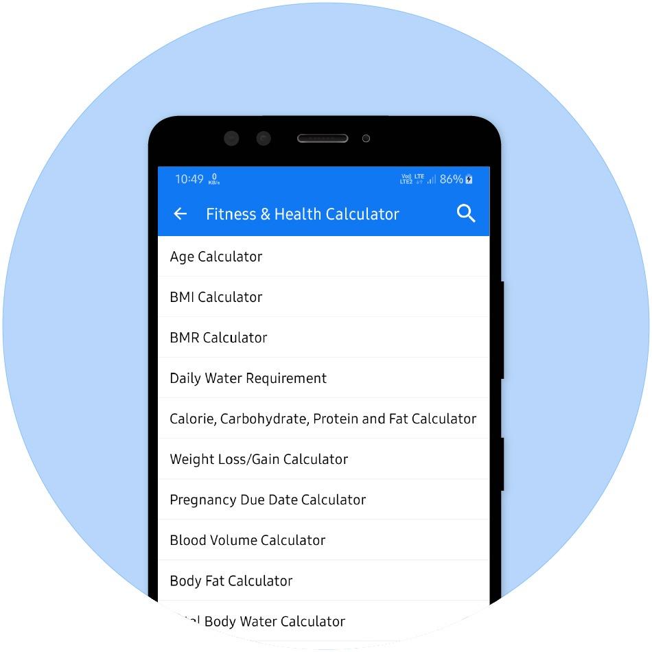 Health & Fitness Calculator