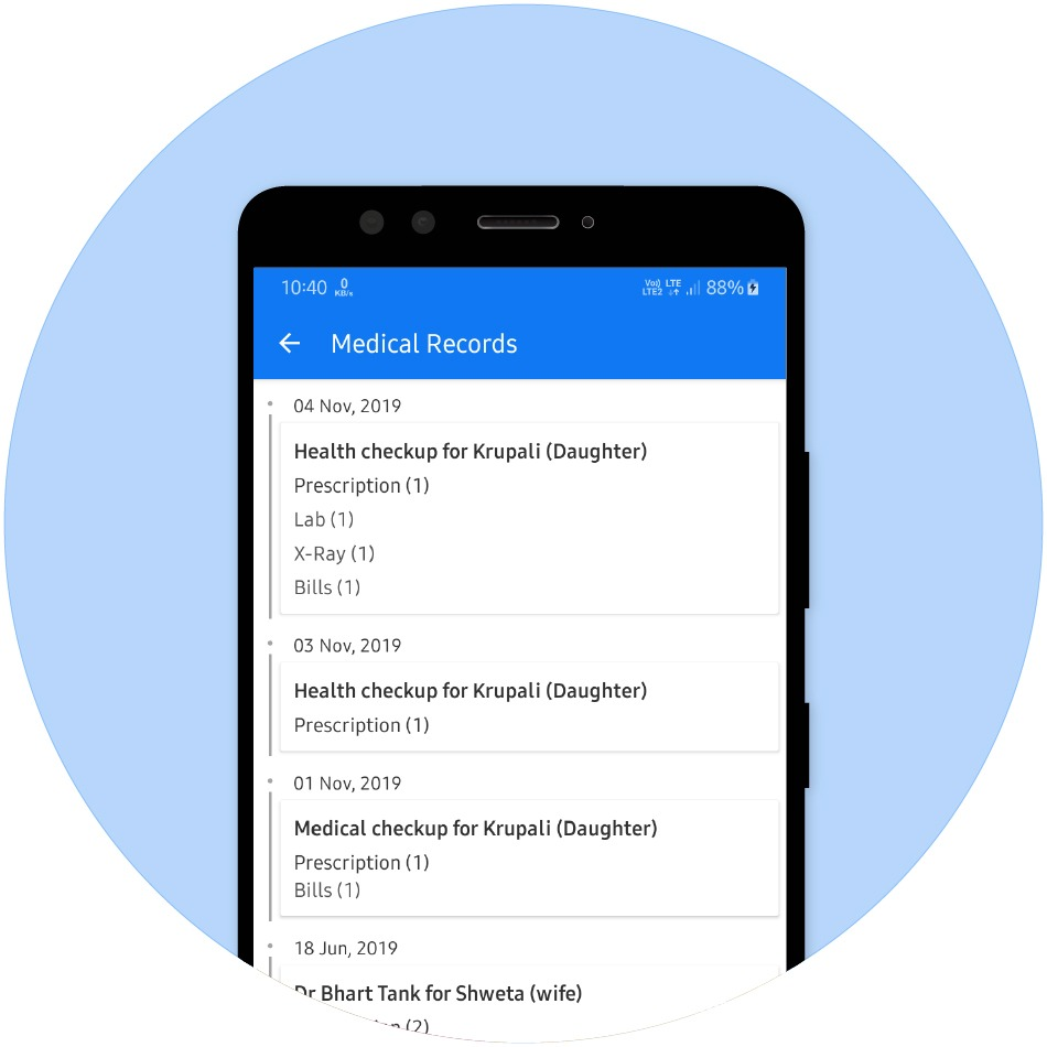 Safely Store Health/Medical Records